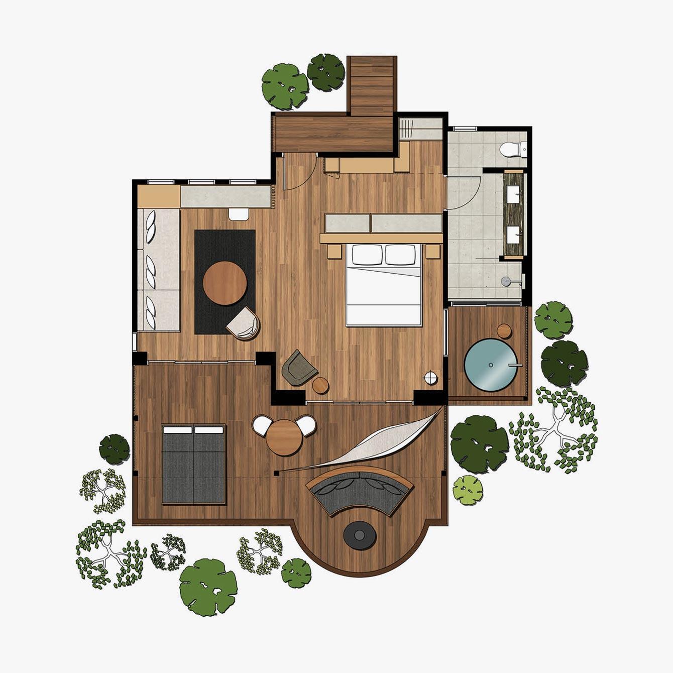 Billabong Suite Floorplan